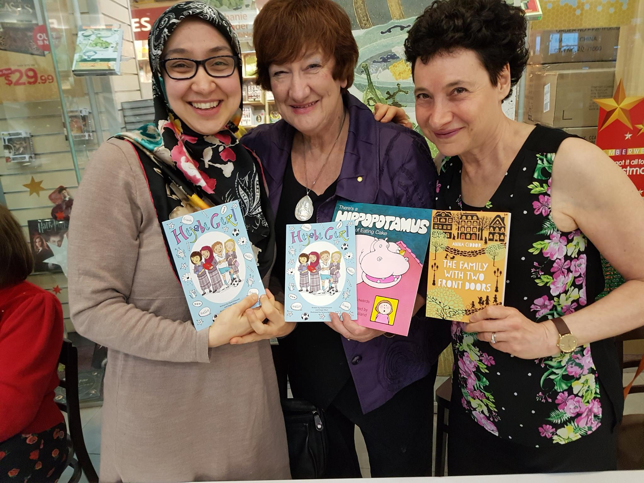 Cross Cultural Trio autographing Dymocks Camberwell