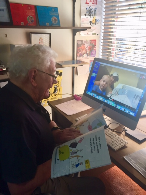 Grandpere Readign on Skype