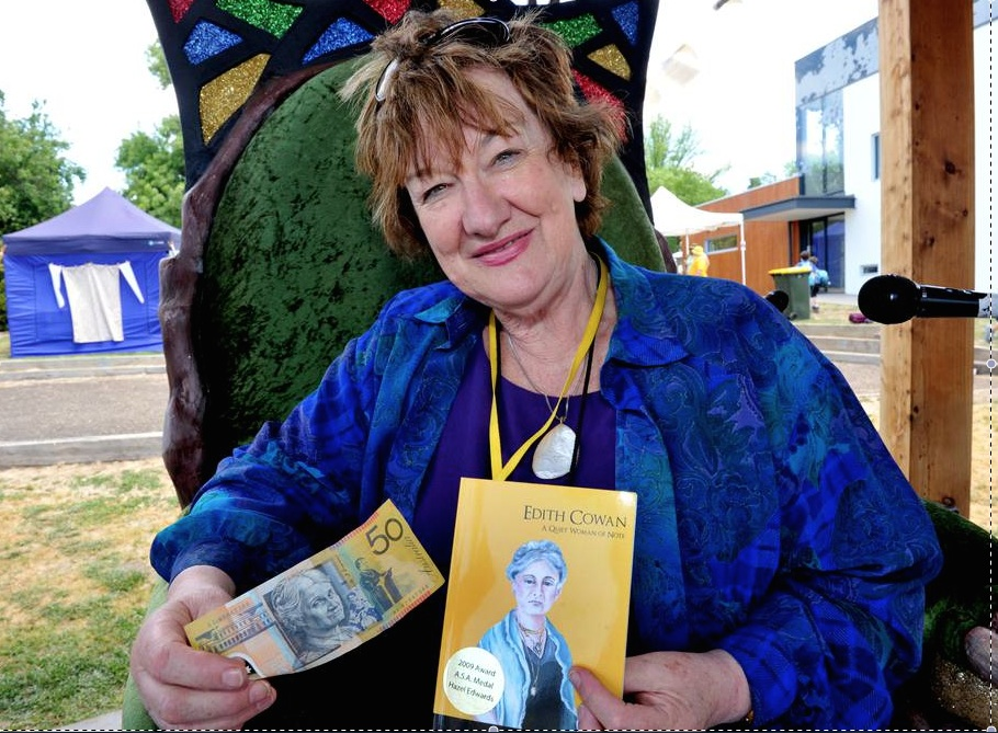 'Notable $50  Historic Edith Cowan' at Clunes Kids' Booktown